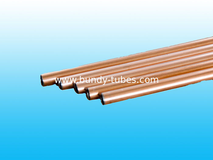 Double Wall Steel Refrigeration Copper Tube 6 * 0.7 mm With ISO9001