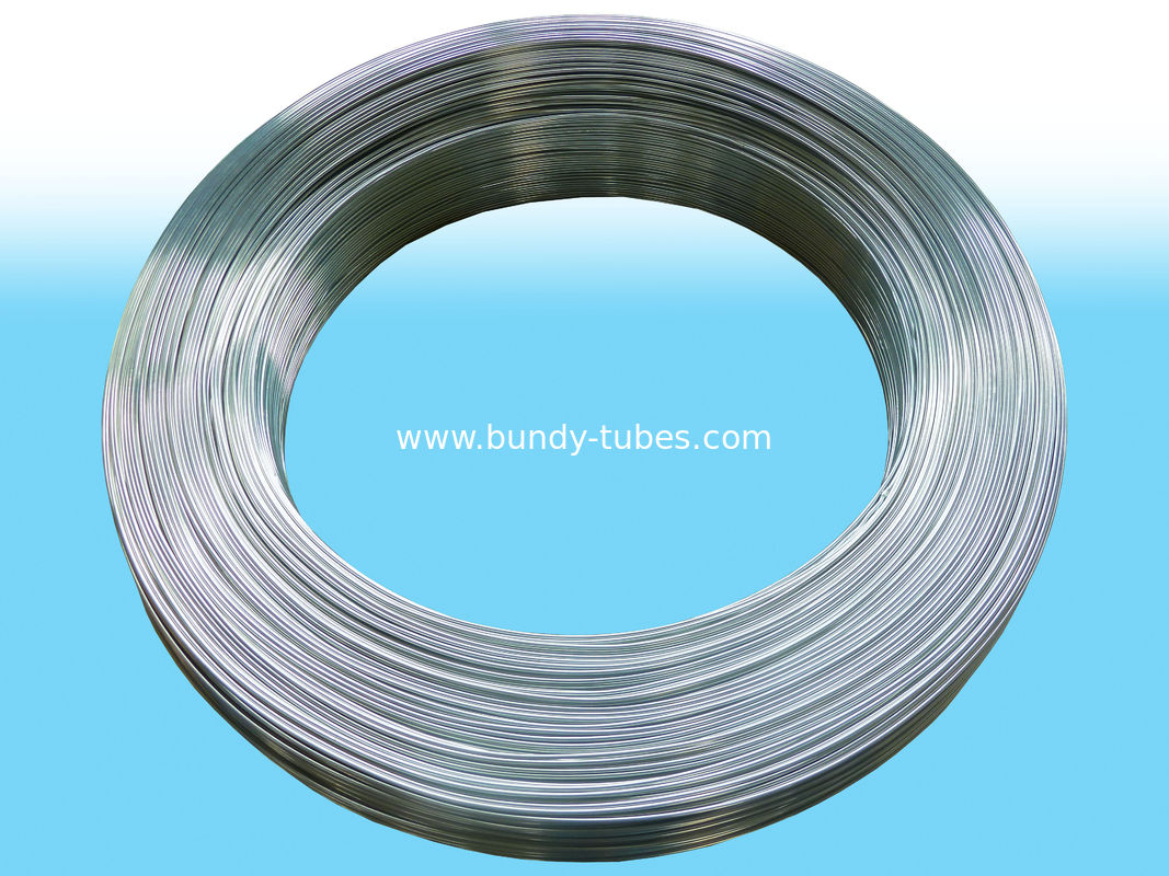 Round Electriced Galvanized Steel Tube For Cooling System 4.2 X 0.55mm