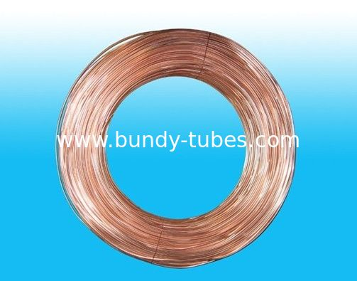 Round 4mm X 0.5 mm Copper Coated Bundy Tube For Water Coolers