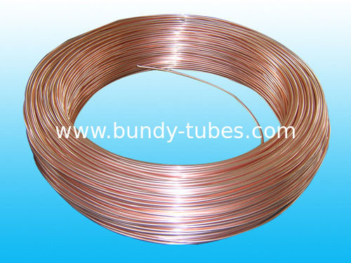 Cold Drawn 4 * 0.5mm Coating Copper Single Wall Pipe ISO9001 / ISO14001